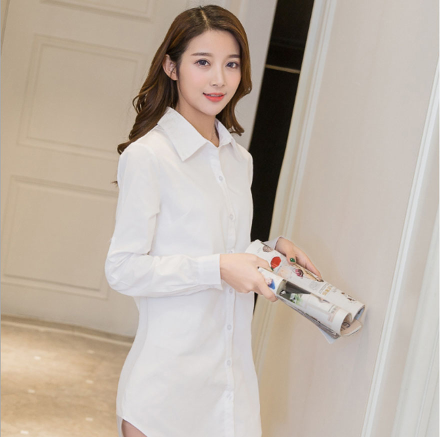 Casual Loose Women Shirts Collar Plus Size Blouse Long Sleeve Buttons White Shirt Women Tops Streetwear 9