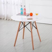 Round table White/Black Round Scandinavian Style Lounge Table Modern Minimalist Tea Table Living Room Wood Coffee Table HWC