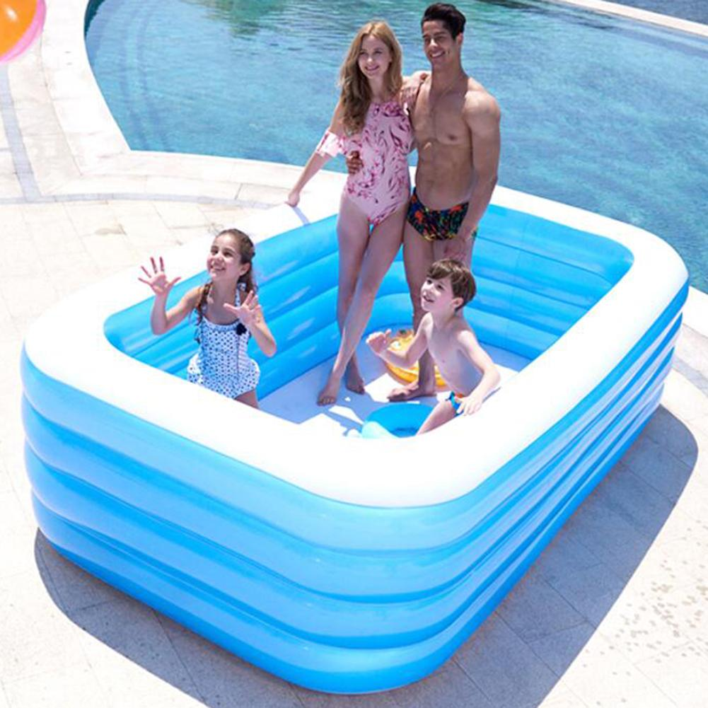 3/4-Layers Inflatable Pools Water-Games Outdoor Kids Summer for Adults Thickened