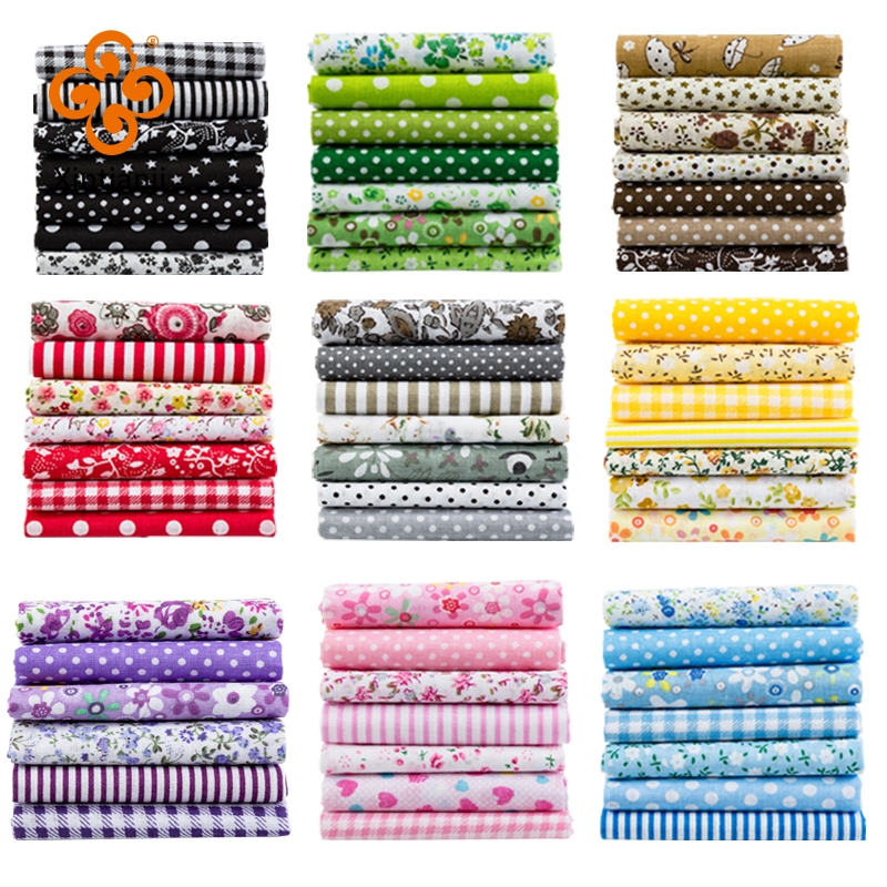 24*25Cm Or 10*10Cm Cotton Fabric Printed Cloth Sewing Quilting Fabrics For Patchwork Needlework DIY Handmade Accessories T7866