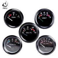 "Vehicle Meter 12V Automobile Car Gauge 2"" 52mm Water Temp Oil Temp Oil Press Fuel Volts Gauge Black Shell"