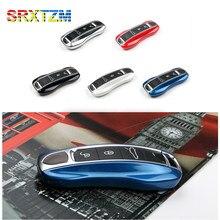 SRXTZM 2 pçs/set Suporte Smart Cover Caso Chave Remoto Shell 3 Botões Saco Chaveiro Para Porsche Panamera 17 +, Cayenne 2018 +