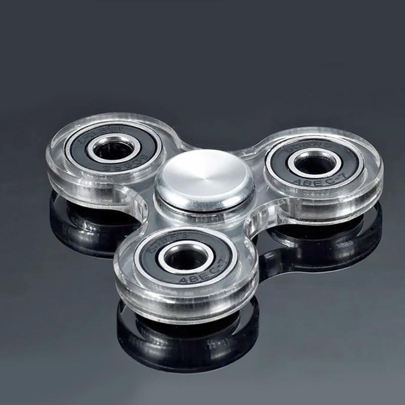 Acrylic Fidget Spinner EDC Shape  Ceramic Bearing Toy Hand Finger Spinner Relieve Stress  Antistress Handspinner Kids Toys