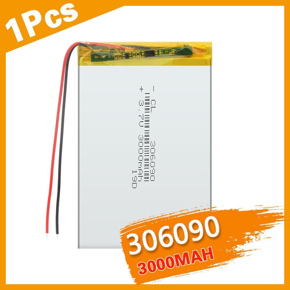 306090 3,7 в питания литий Батарея 3000 Mah литиевая полимерная аккумуляторная батарея Батарея для Bluetooth гарнитура MP3 MP4 MP5 GPS|Перезаряжаемые батареи|   | АлиЭкспресс