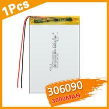 306090 3.7 V Supply Lithium Battery 3000 Mah Lithium Polymer Rechargeable Battery For Bluetooth Headset MP3 MP4 MP5 GPS