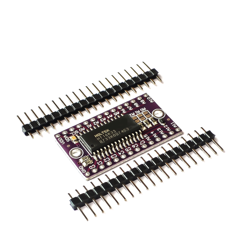 Module de commande de matrice de points LED, pilote de Tube numérique, HT16K33, 10 pièces/lot