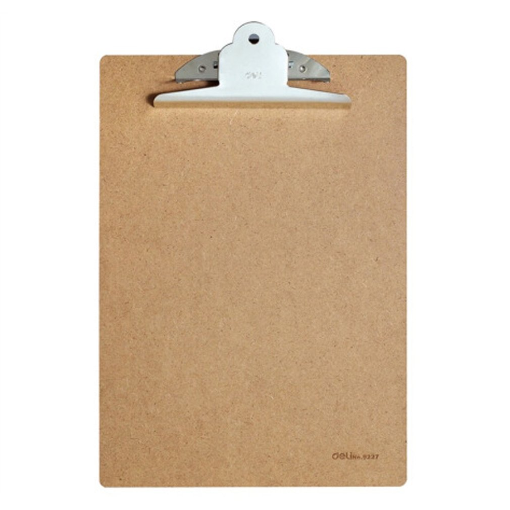 Deli 9224 A4 Wood Clipboard Portable Writing Board Clip Board Office School Meeting Accessories With Metal Clip
