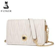 FOXER Designer Fashion Air Flap Shoulder Bag Stylish Girl Irregular Pattern Women Messenger Crossbody Bag Valentine's present