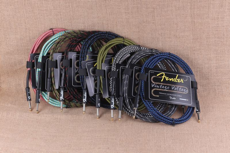Fender guitar cable bass electric box audio cable guitar noise reduction line color braided shielded cable 3 /6/10/15/20meters image