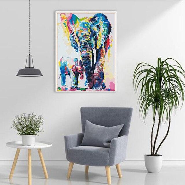 Фото diy 5d алмазная картина слон алмазная вышивка животное крестом цена