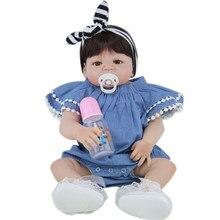 BZDOLL 55 CM completo cuerpo de silicona muñeca Real de 22 pulgadas de niña recién nacida princesa bebés baño juguete chico regalo
