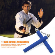 Kung fu chinês nunchaku artes marciais segurança esponja equipamentos de treinamento de fitness para facilitar a segurança enfeites de trabalho