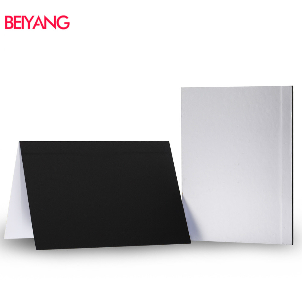 41*28.5cm Camera Photography Accessory Collapsible Cardboard White Black Silver Reflector Absorb Light Thick Reflective Paper
