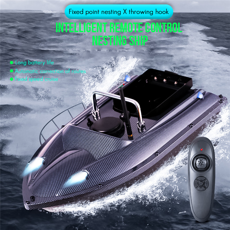 500M RC Distance Remote Control Fishing Bait Boat Speed Boat Fish Finder Ship Boat With US/UK/AU/EU Charger Fishing Tools