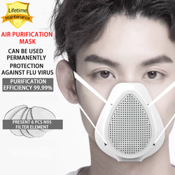 N95 Respirator Mask Lifetime Warranty N95 Mask Anti coronavirus protective mask dust mask  electric filter mask air purification surgical mask