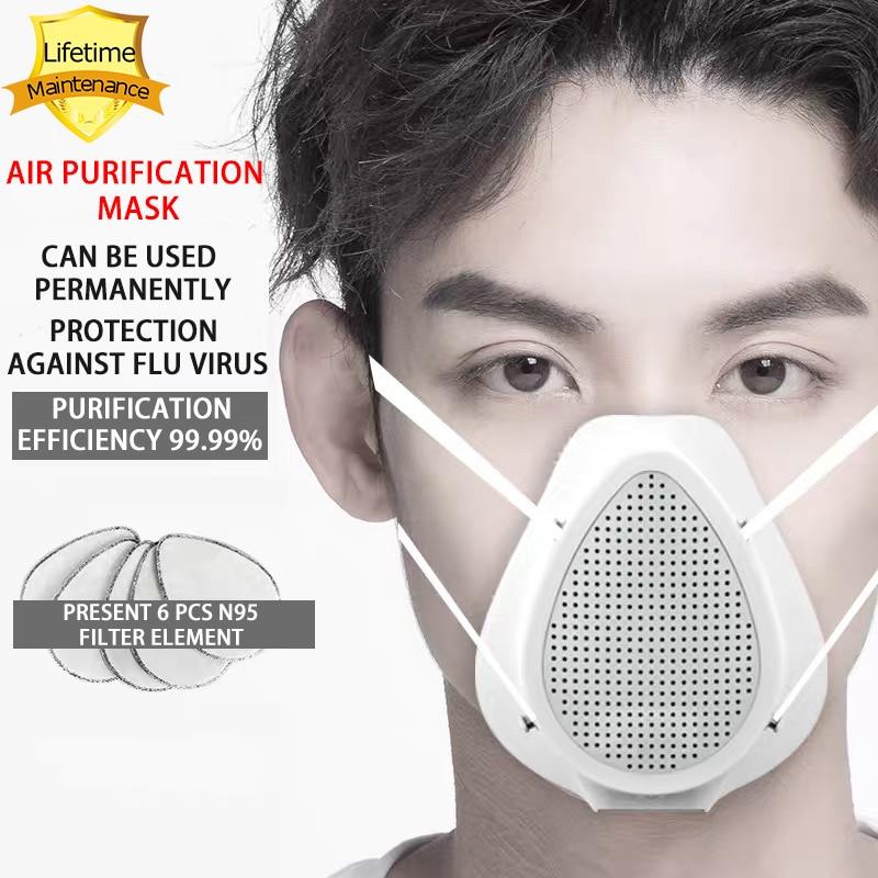 354.62грн. 49% СКИДКА|Пожизненная гарантия N95 маска против коронавира защитная маска Пылезащитная Маска Электрический фильтр Маска очистка воздуха Хирургическая Маска|Маски| |  - AliExpress