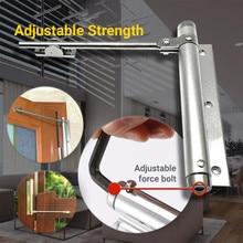 Дверной доводчик с одной пружиной, регулируемый, нержавеющая сталь, Автоматический Дверной доводчик для улучшения дома, Дверные доводчики, инструменты из алюминиевого сплава