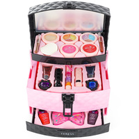 Fashion Girls Make Up Toy Set Pretend Play Princess Pink Makeup Beauty Safety Non toxic Kit Toys for Dressing Cosmetic Kids Gift