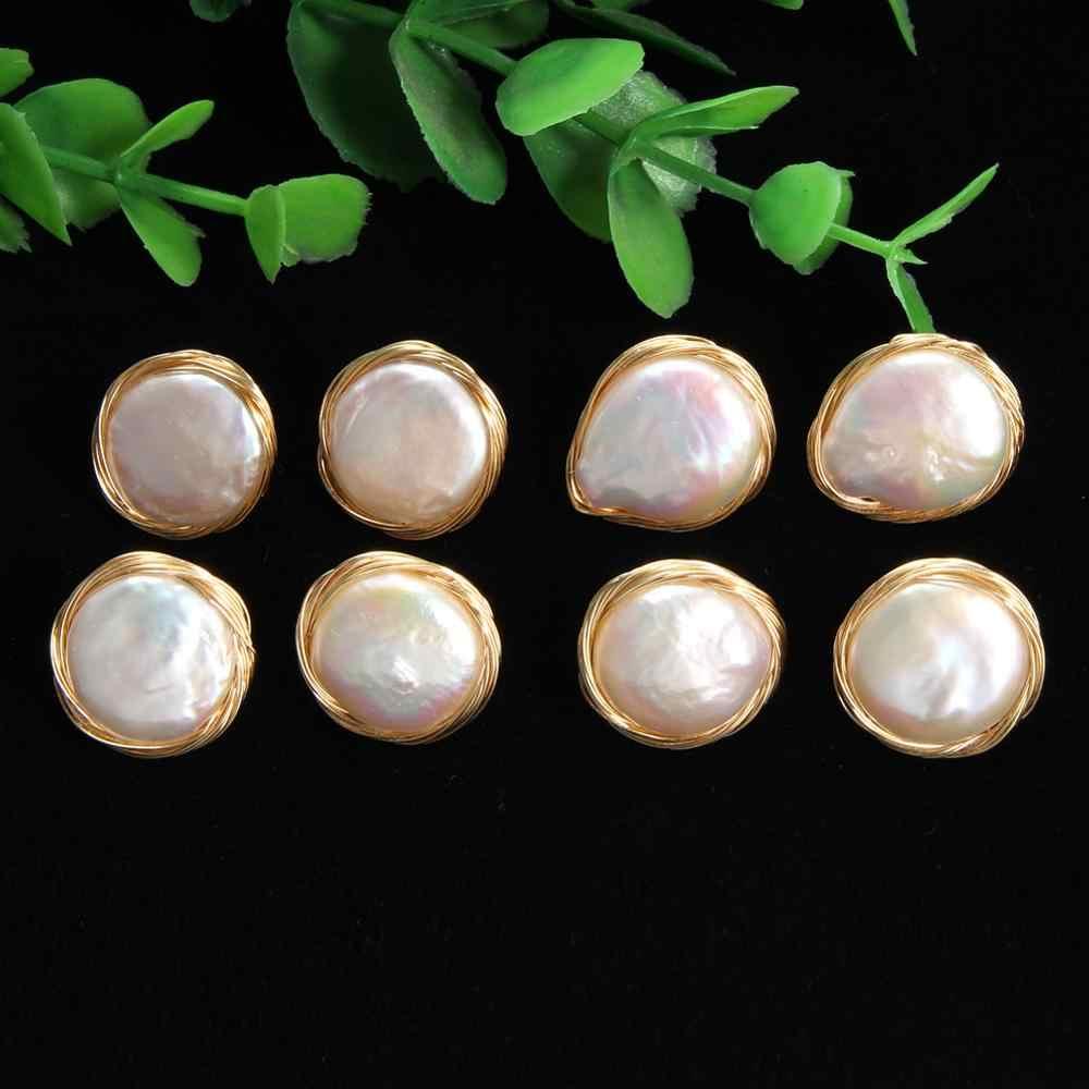 ᵒᴼᵒₒₒᵒᴼᵒ PERLA BARROCA EN ORO ᵒᴼᵒₒₒᵒᴼᵒ aretes /únicos con perlas de agua dulce oro de crecimiento visible,