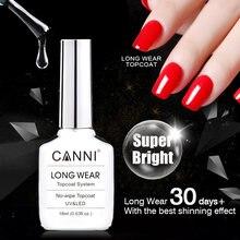 Новинка: яркое стойкое топовое покрытие для ногтей без смывания с эффектом бриллиантового сияния CANNI, 18 мл