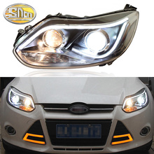 цена на SNCN Car Styling LED Headlight For Ford Focus 3 MK3 2012 2013 2014 LED DRL Halogen Turn Signal Head Lamp Assembly Upgrade