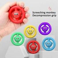 Spremere giocattoli per bambini decompressione Grip urlando Silicone presa acustica gioca esercizio forza delle dita giocattoli per adulti 18