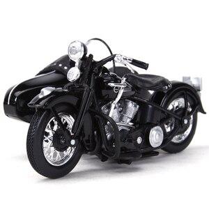 Image 2 - Maisto 1:18 1948 FL دراجة نارية sidecar دييكاست سبيكة نموذج دراجة نارية لعبة
