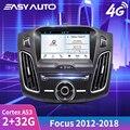 Fácil 8 android android android navegação gps do carro para ford focus 2012 2018 navegação gps do carro jogador de rádio do carro sistema multimídia