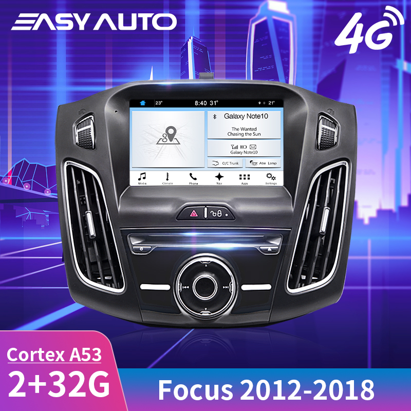 Fluid and Fast 8'' Android Car GPS Navigation for Ford Focus 2012~2018 Multimedia Head Unit Player System Auto Stereo Radio