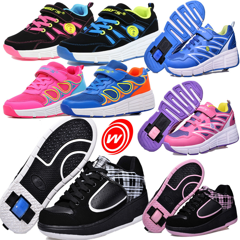 Children Roller Skate Shoes Boy's Girls Jazzy Junior Student Shoes Kids Breathable Sneakers With Wheels outdoor sport shoes
