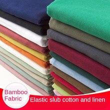 Бамбуковая ткань, эластичная драпировка, хлопковая льняная одежда, тонкие брюки, платье, чехол для дивана, однотонная парча, синий белый чер...