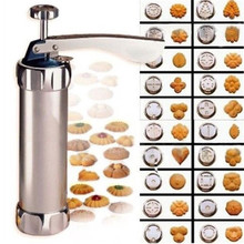 Stamps-Set Biscuit-Maker Baking-Tools Cookie-Press Cake-Decorating Hot Manual with 4-Nozzles