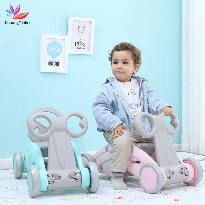 Baby Balance Bike Walker Kids Ride For 2 In 1 Baby Rocking Horse Children For Learning Walk Scooter Playground Toys Gift M028