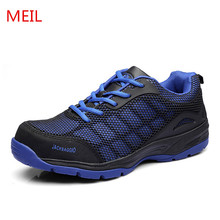 Plus Size 46 Mens Fashion Steel Toe Cap Work Safety Shoes Lace Up Platform Labor Insurance Shoe Construction Site Security Boots safety helmet hard hat work cap abs insulation material with phosphor stripe construction site insulating protect helmets