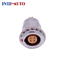 Female male M15 2B 4 solder Contacts fixed panel mount Receptacle, circular metal push pull connector,EZGG.2B.304 szjelen 16pin connector fgg 2b 316 clad z ecg 2b 316 cll panel mount connectors instrument power cable connector