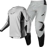 NAUGHTY FOX MX/ATV/MTB/DH Racing 180 Prix Jersey & Pant Combo Grey MX Offroad Motocross Dirt Bike ATV UTV Gear