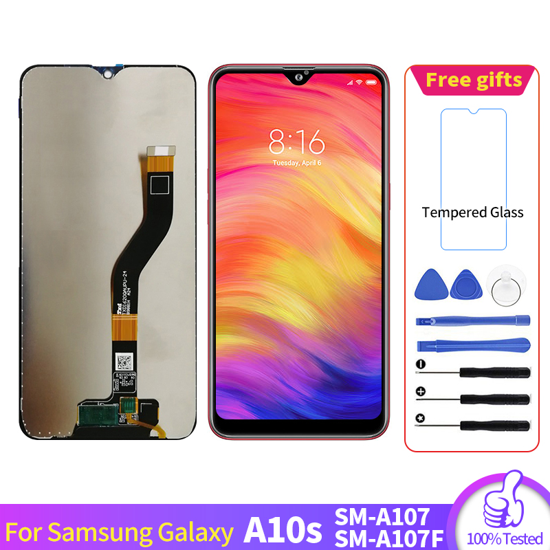 For Samsung Galaxy A10s A107 SM-A107F LCD Display Screen Digitizer Assembly For Samsung A107 pantalla With Tools image
