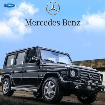 WELLY  1:24 Mercedes-Benz G-Class SUV   car alloy car model simulation car decoration collection gift toy Die casting model boy welly 1 24 mercedes amg gtr green car alloy car model simulation car decoration collection gift toy die casting model boy toy