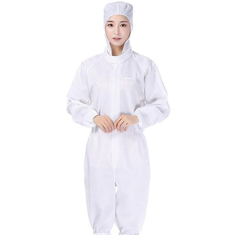 COVID-19 Virus Polyester Protective Suit For Doctors Antistatic Dust-Proof Uniform Painting Coverall Work-Wear Clothes PVC 1