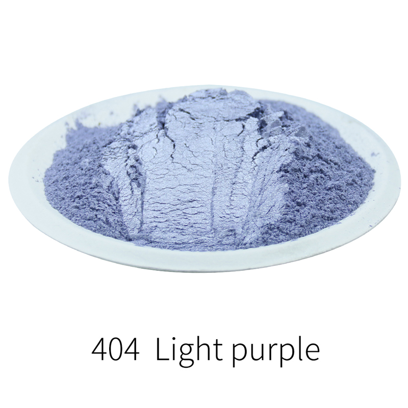 Pearl Powder Light Purple Mica Powder Pigment For Art&Crafts Soap Automotive Eye Shadow  50g Acrylic Paint Type 404