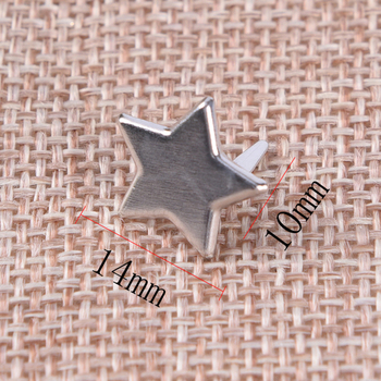 20Pcs 14mm x10mm Sliver Star Shape Metal Brads Decoration Embellishments Scrapbooking Brads image