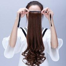 Манвэй, длинные вьющиеся волосы на заколках, хвост, накладные волосы, конский хвост, шиньон с заколками, синтетические волосы, конский хвост, волосы для наращивания, хвост, Hea
