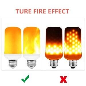2020 новая светодиодная динамическая огнеупорная лампа с эффектом пламени E27 E26 B22 E14 E12 светодиодная кукурузная лампа креативная Мерцающая эм...