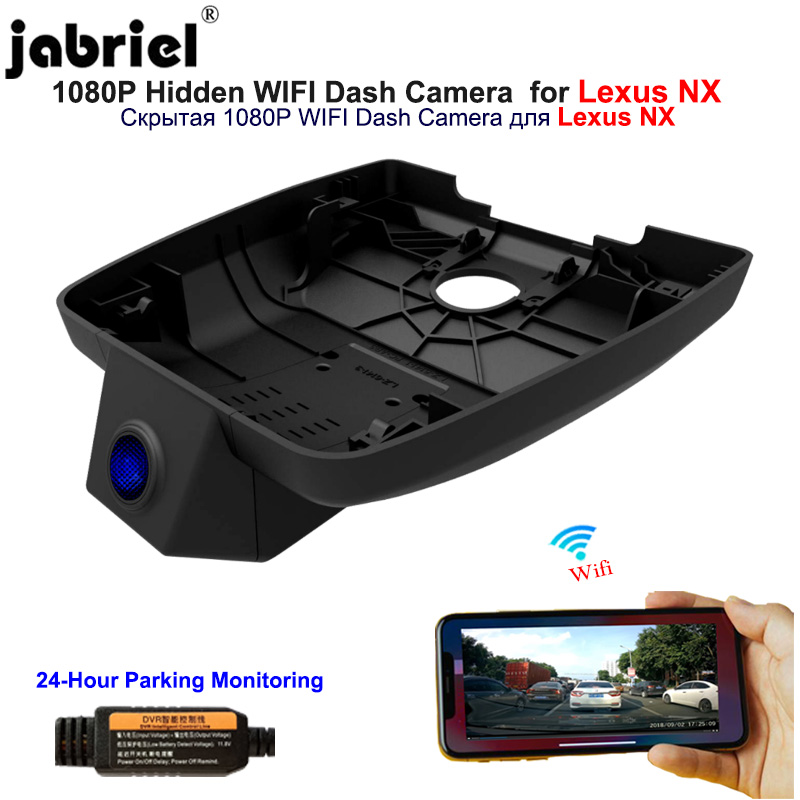 Jabriel 1080P Hidden dash cam Wifi <font><b>car</b></font> <font><b>dvr</b></font> <font><b>Car</b></font> Camera for <font><b>Lexus</b></font> nx300h nx200t nx300 nx200 2015 2016 2017 2017 2019 2020 android image