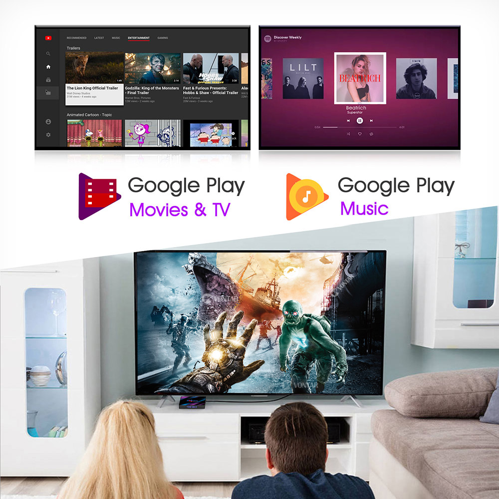 Image 5 - H96 MAX RK3318 Smart TV Box Android 9.0 4GB 32GB 64GB Media player 4K Google Voice Assistant Netflix Youtube H96MAX 2GB16GB-in Set-top Boxes from Consumer Electronics