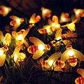 Светодиодная уличная гирлянда с пчелами на солнечной батарее, s-образные водонепроницаемые декоративные лампы для сада, рождественского пр...