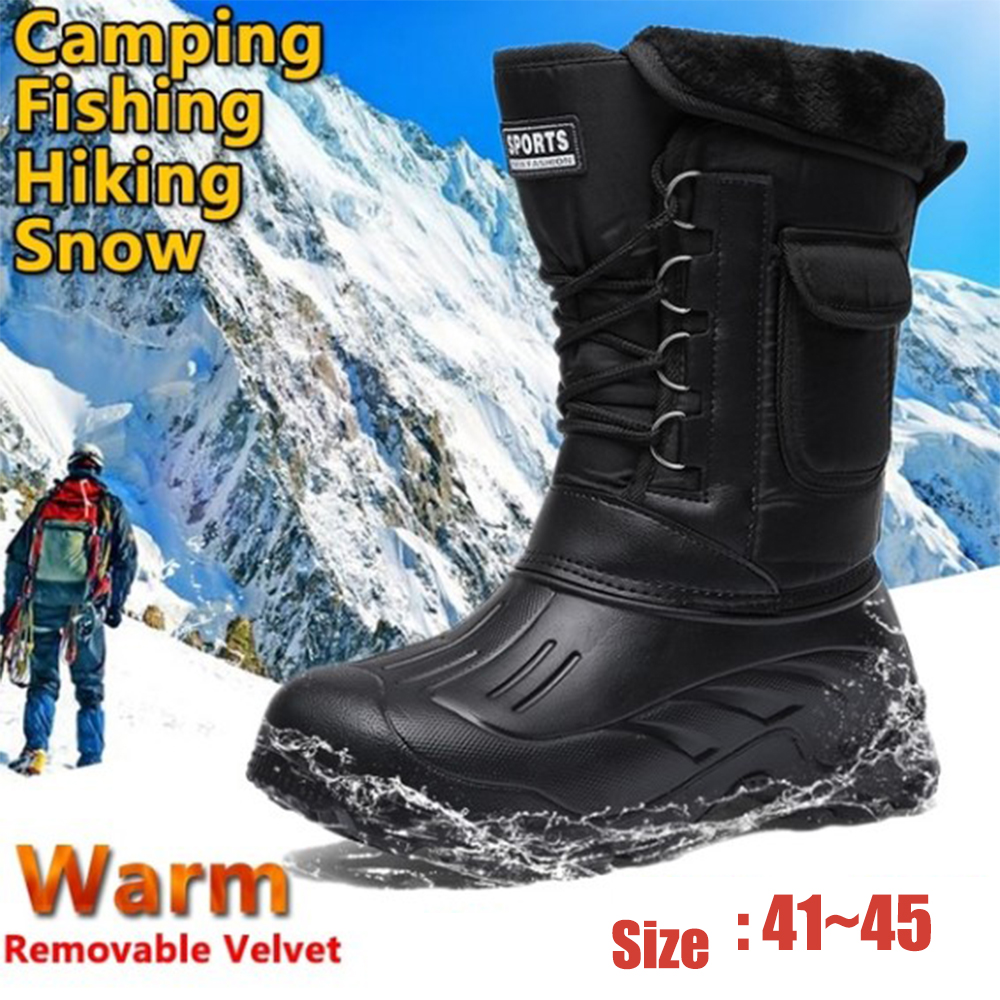 Hiking Shoes Professional Outdoor Tactical Sport Men's Shoes Waterproof Male Winter Hunting Boots Mountain Climbing Boots D25 image