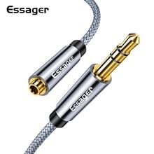 Essagerヘッドホン延長ケーブルジャック3.5ミリメートルオーディオauxケーブル3.5ミリメートル女性スプリッタスピーカーエクステンダーコードアダプタ