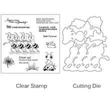 Zhuoang ants/цветы прозрачные штампы для скрапбукинга diy/изготовление