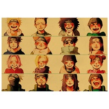 Poster Painting Wall-Stickers Kraft-Paper Home-Decorative Anime Cartoon